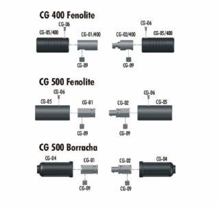 Parte metálica macho CG02 Fenolite