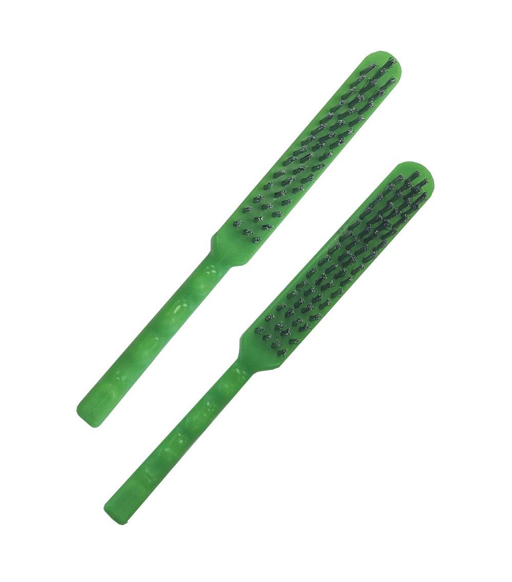 Escova Manual Aço Inox Cabo Plástico