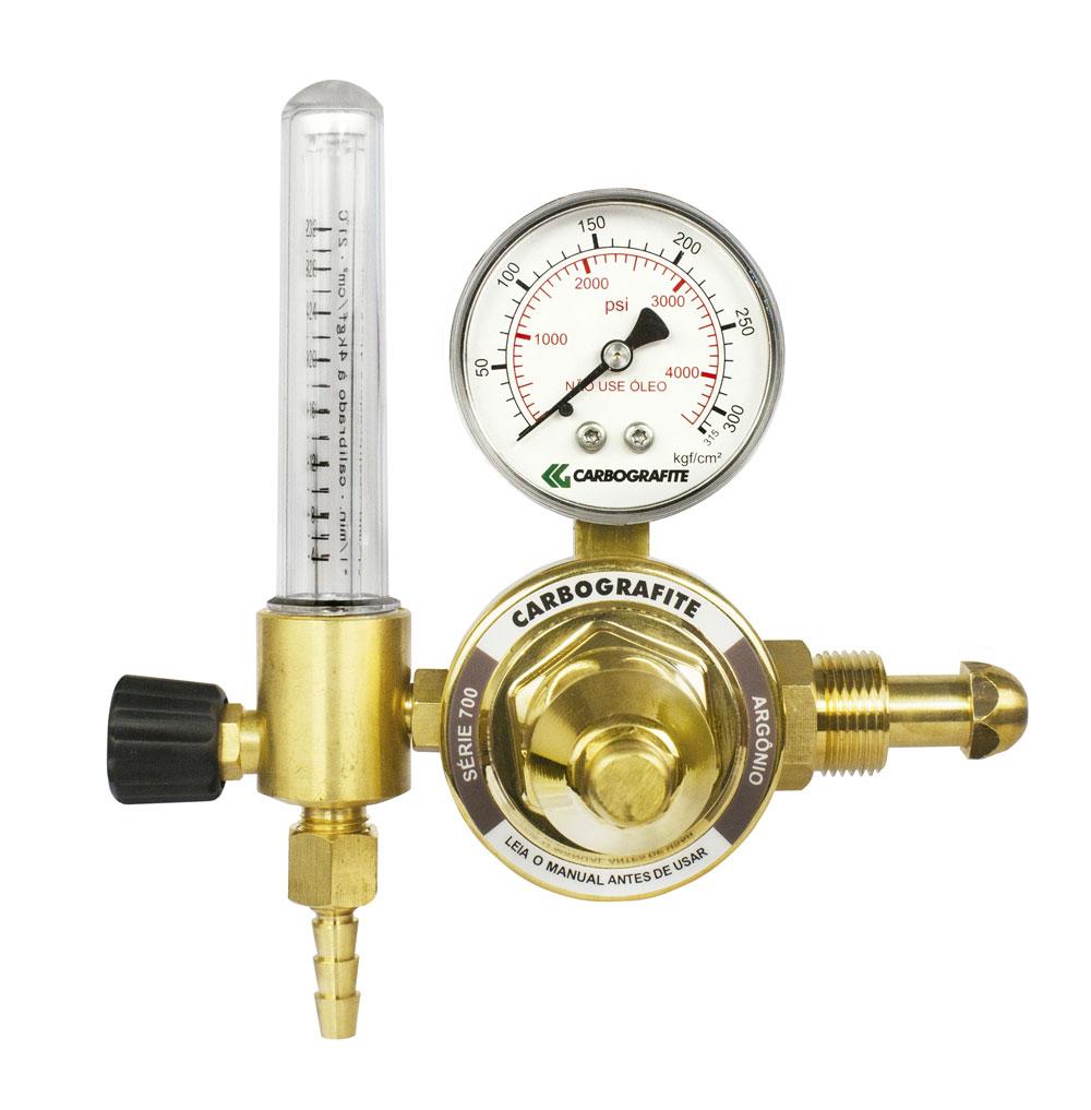Regulador de Pressão Argônio com Fluxômetro - Cilindro | Série 700