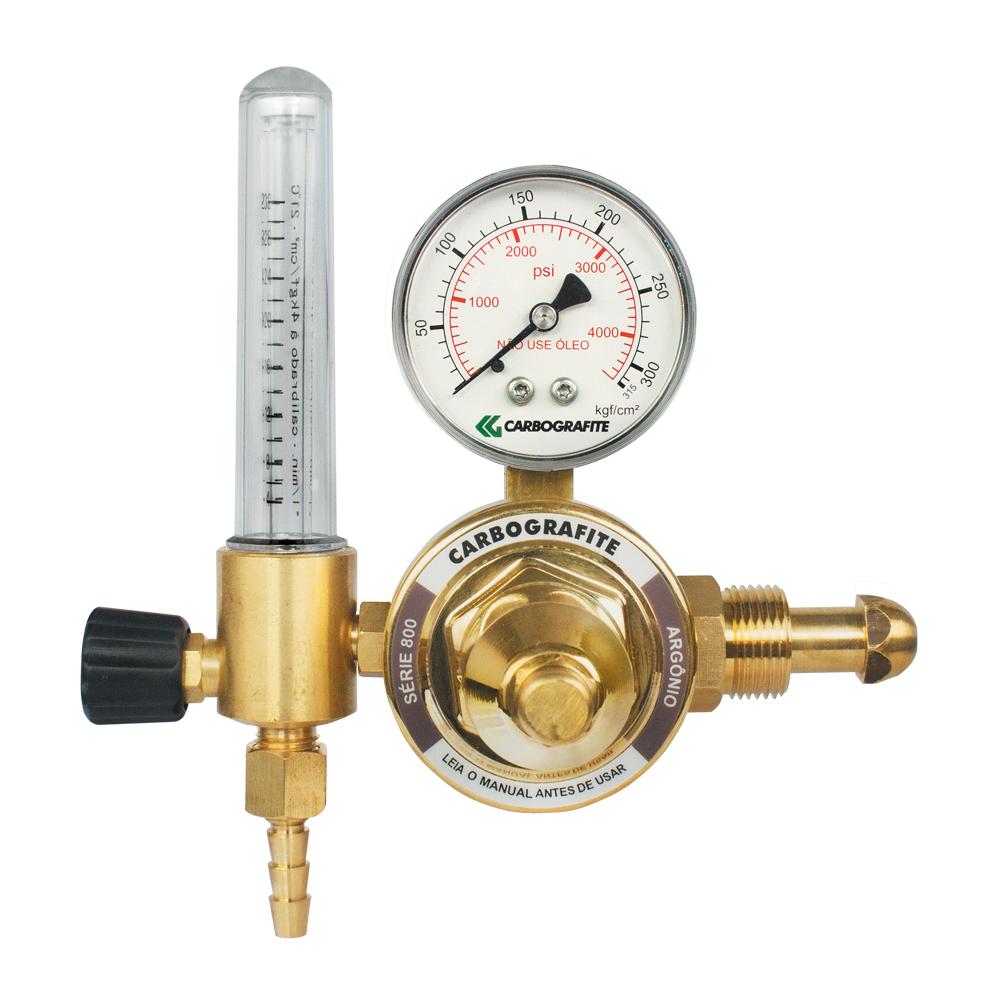 Regulador de Pressão Argônio com Fluxômetro - Cilindro | Série 800