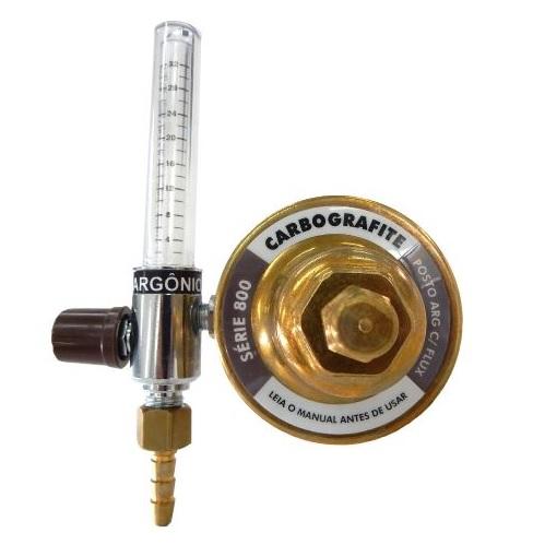 Regulador de Pressão Argônio com Fluxômetro - para Posto | Série 700