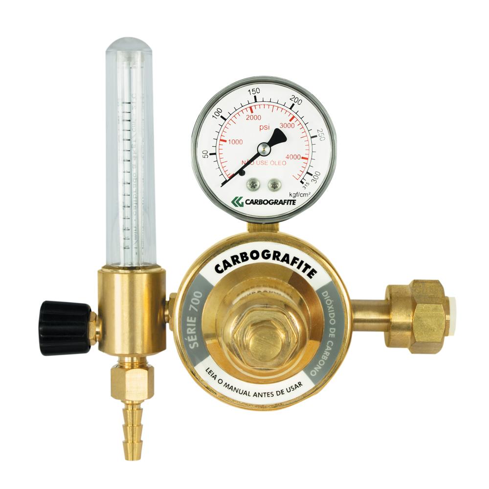 Regulador de Pressão CO2 com Fluxômetro - Cilindro | Série 700